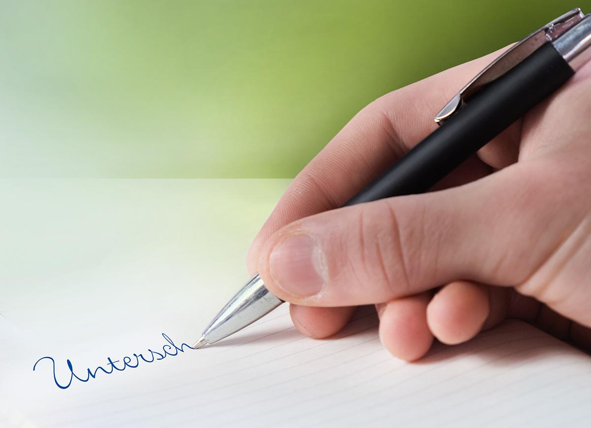 Jetzt! unterschreiben