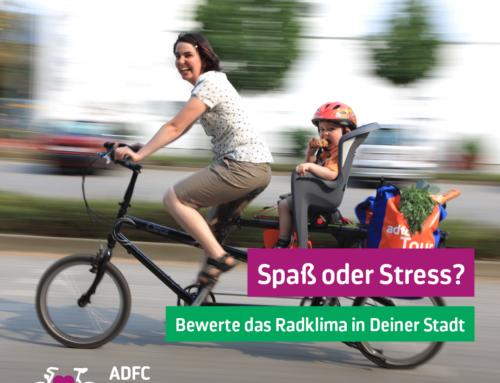 Radsituation in der Gemeinde: jetzt bewerten!